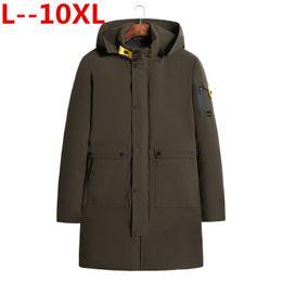 10XL 9XL 8XL 6XL 2018 Winter Herren X Lange Mantel Exquisite Armtasche Männer Feste Parka Warme Manschetten Design Atmungsaktive Stoffjacke