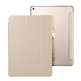 Wholesale Ipad2 Covers - KISSCASE Smart Leather Cases For iPad Air 2 Case Luxury Ultra thin Transparent Clear Stand Flip Cover For iPad Air 2 iPad2 Coque