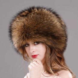 sombrero ruso negro Rebajas Sombrero de piel para mujeres Piel de lana artificial  Ushanka ruso Sombreros 681509f9bb5