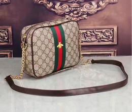 Mochila de bolsillo de cuero online-de calidad superior del diseñador famoso a estrenar de cuero genuino de piel de cordero cadena de bolsillo acolchado hombro mochila bolso de escuela monedero G1705 #