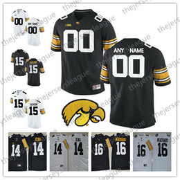 3e8bae649 Iowa Hawkeyes Custom Any Name Any Number White Black Personalized Stitched   4 Nate Stanley 14 Desmond King NCAA College Football Jerseys