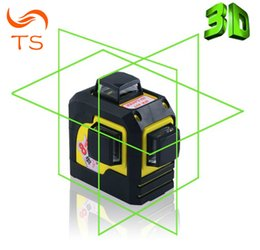Wholesale laser line green - 3D 93TG 12Lines Green Laser Levels Self-Leveling 360 Horizontal And Vertical Cross Super Powerful Green Laser Beam Line