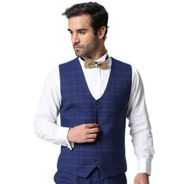 Wholesale Korean Suit Men Green - 2018 spring British Slim vest men's suits mosaic vest business leisure professional dress Korean version of the tide