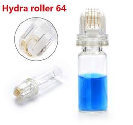 2019 derma roller gold Microneedle Hydra Roller 64 Gold Tips remplisseur cutané pour le massage facial à l'acide hyaluronique derma roller promotion derma roller gold