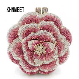 507e78116ac5 Newest Clutch Bag Pink Crystal Women Wedding Flower Party Purse Bride Chain Clutch  Bag Prom Night Evening Bag SC603 Y18103003