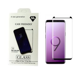 Wholesale Used Cases - Case Friendly For Samsung Galaxy S9 S9 Plus Note8 Small Type 3D Curved Tempered Glass Screen Protector Using With Any Cases