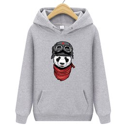 cool sportswear clothing Coupons - 2018 New Men's Sportswear Spring Fashion Hoody Cool Panda Pirnt Hoodies Men Tracksuits Crossfit Hoodie Brand Clothing WY-XK52