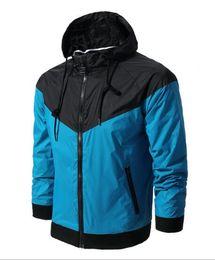 Wholesale Thin Waterproof Fabrics - Free shipping Fall thin windrunner Men Women sportswear high quality waterproof fabric Men sports jacket Fashion zipper hoodie plus S- 3XL