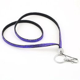 Wholesale neck bling lanyard crystal rhinestone - Rhinestone Lanyard Crystal Bling Neck Strap ID Badge Key Holder Cellphone lanyard with crystal beads