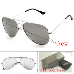 Wholesale Handsome Glasses - High Quality Brand Designer glass lens sunglasses men women Vintage Handsome Chic Sunglasses Mirror Gradient Sun glasses eyewear With Box