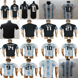 2018 World Cup Argentina Custom Away Home Soccer Jerseys Goalkeeper Men  Lady Kids DYBRLR 14 MASCHERANO 10 MESSI 9 AGUERO DI MARIA Blank discount  argentina ... 5f834519e