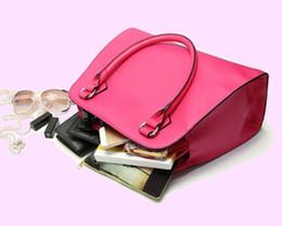 Venta al por mayor-2015 de la marca de las mujeres bolsos de Shell de la moda de compras bolso de mano de color rosa caliente bolsas de hombro de cuero de la PU bolsas de mensajero bolsas mujerXA346C desde fabricantes