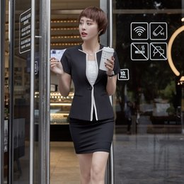 40273703c481 Summer Formal Female Skirt Suits for Women Blazer and Jacket Sets Ladies  Business Suits Office Uniform Designs OL Styles
