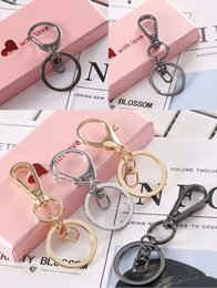 keychain swivel Coupons - Metal Swivel Lobster Clasps Keychain Rings 6 Style Classic Keyring Black Gold Silver 3 Color Car Key Holder Unisex Keychains Free DHL G781R