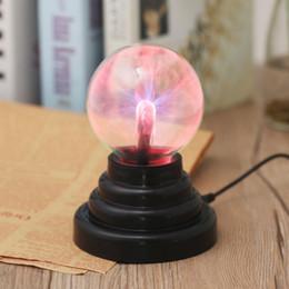 esfera de luz de navidad Rebajas ICOCO 3 pulgadas Bola de plasma USB Esfera electrostática Luz Magia Cristal Lámpara de la bola Globo de escritorio Computadora portátil Lámpara de luz Fiesta de Navidad