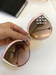 2019 occhiali da sole FF0290 / S Occhiali da sole Cat Eye in oro rosa / bianco / rosa Occhiali da sole designer da donna 58mm Nuovo di zecca sconti occhiali da sole