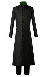Темный черный косплей онлайн-Темнее, чем черный косплей костюм черный длинный плащ куртка Хэллоуин полный костюмы