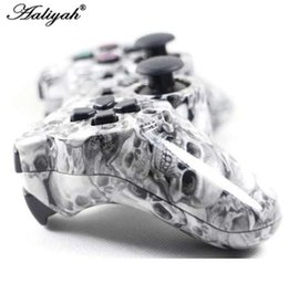 Playstation sixaxis controlador inalámbrico online-Controlador de juego inalámbrico Bluetooth de camuflaje Aaliyah SIXAXIS Joystick Gamepad para Sony Playstation 3 PS3 5 colores