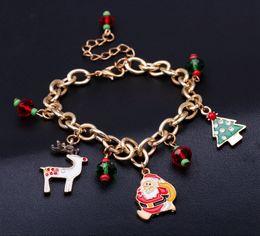 phantasie armbänder Rabatt Neue Weihnachtsmann Armbänder Fancy Chain Armbänder als Weihnachtsgeschenk für Kinder und Frauen Charms Fashion Design Armbänder 18 cm + 5 cm