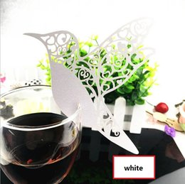 Wholesale Graduation Place Cards - wedding decorations Laser Cut Paper Wine Glass Place Card Creative Wedding Party Decoration MOQ 200PCS free shipping BP081