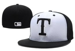 Wholesale casual order - Wholesale New Hats Fitted Caps Baseball Hat Back Color Texas All Size Mix Match Order All Caps High Quality Hat