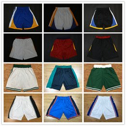 Wholesale Authentic Shorts - HOTSALE 2018 HOTSALE 2018 New Season Authentic Performance Running Basketball Jersey Shorts Men Mens Short Jerseys