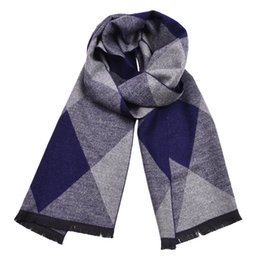 Бренд Зимние мужские шарфы 2018 высокое качество бизнес повседневная мягкая имитация кашемира шарфы Алмаз решетки теплый бахромой пряжи шарф от
