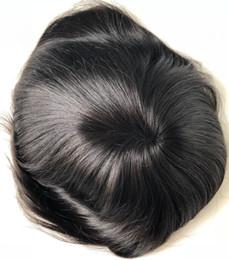 Mono encaje peluca para hombres negros Toupee Mens medias de encaje Mono con NPU Toupee en la corona hombres Toupee cabello humano Virgen birmana desde fabricantes