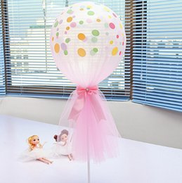 2019 lila ballons Mesh Bow Ballon Kit mit Diamant Bowknot 12 Zoll Polka Dot Ballons Party Dekoration Hochzeit Supplies Pink White Purple günstig lila ballons