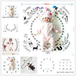 foto kulissen tuch Rabatt Neugeborenes Baby Fotografie Hintergrund Requisiten Infant Foto Stoff Kulissen Kinder Decken Wrap Buchstaben Blumenzahlen drucken Tuch BHB40