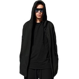 bcec85075f0 Brand Hoodie Clothing Men  S Black Cloak Hooded Clothing Hip Hop Full  Sleeves Men Women Unisex Cardigan Big Size 3xl