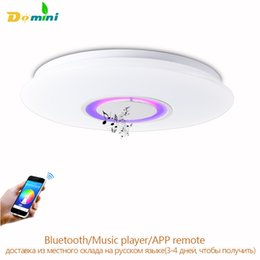 Wholesale Kids 12v - APP Remote Ceiling Lighting For Iphone Bluetooth Speaker Smart LED Lamp Music Light Modern Ceiling Lights For Kids Room Spot Led