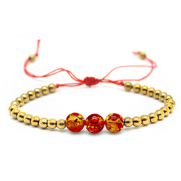Wholesale Diy String For Bracelet - Handmade Beads Bracelet DIY bracelets pendant red string adjustable for man woman jewelry Natural stone Bracelets Wholesale 2018 new