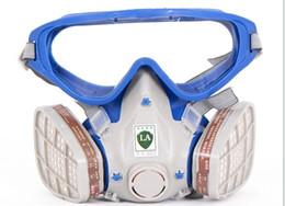 Freeshipping новый стиль костюм респиратор картина опрыскивания лицо противогаз с защитные очки Очки краска от