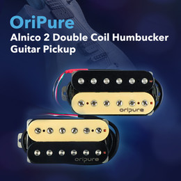 Wholesale Guitar Parts Bridges - OriPure Alnico 2 Double Coil Humbucker Guitar Pickup Neck  Bridge for Electric Guitar Parts Replacement High Quality
