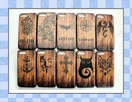 Coque en TPU pour iPhone X 10 7 8 Coque en bois pour Samsung S9 Plus S8  Note 9 f24cd5877154