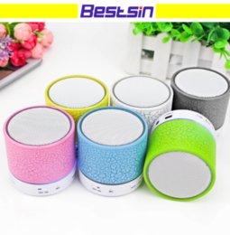 Wholesale Usb Support Speakers - Bestsin Portable Wireless Speaker Bluetooth Mini Speaker A9 LED Color Light Support FM Radio TF Music Play USB Handfree Calling