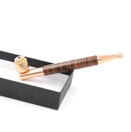 Tubi di legno mini online-Tubo per fumatori in metallo in oro di alta qualità Colore per mini tubi di erbe Tubo Design unico Alta qualità Facile trasporto Pulito Smontaggio di alta gamma