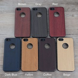 Wholesale Wood Skin Iphone Case - 1 Pieces Wooden design case for iPhone 5 6 7 8 5S SE soft TPU silicone material with wood PU leather skin covers for iphone 6 6S iphone 7 8