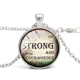 Wholesale Alloy Wells - Quotes Pendant Necklaces Well-know Saying Christian Glass Cabochon Dome Alloy Easter Thanksgiving Day Gift Women Charm Jewelry Wholesale