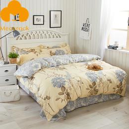 Wholesale Blue Floral Duvet Cover - MECEROCK Floral Pattern Bedding Set Girls Duvet Cover Set With Flat Sheet Pillowcases Twin Full Queen Size Bed Linens