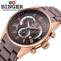 16c4821fbb2 2019 bg watch Relógios de pulso dos homens da Suíça marca de luxo BINGER  relógio de