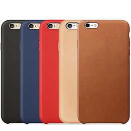 Wholesale Iphone Original Case - Original Official Case For Apple iPhone X 8 7 Plus 6 6S SE 5 5S Luxury Cover Have OEM Back LOGO PU Leather Phone Cases Matte Frosted