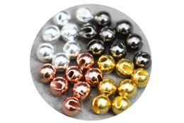 Tigofly 24 шт. / Лот 4 цвета 3,3 мм Приятно разработанные прорезные вольфрамовые бусины Fly Tying Beads Материалы от