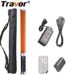 vendita all'ingrosso Portable Handheld Tube LED Video luce dimmerabile Bi-color 3200K / 5600K Illuminazione fotografica con telecomando da