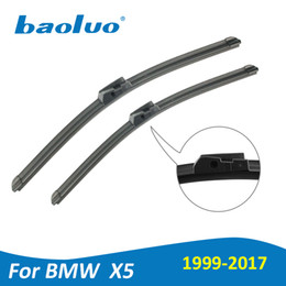 Wholesale Bmw X5 Accessories - BAOLUO Wiper Blades For BMW X5 E53   E70   F15 1999-2017 Natural Rubber,Windshield,Boneless Wipers,Car Accessories