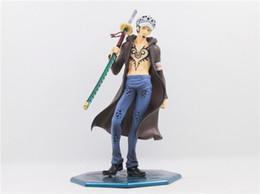 Wholesale Trafalgar Law Toys - Suzannetoyland Anime One Piece Trafalgar Law PVC 18cm Kids Birthday Model Toys Movie Games Action Figure