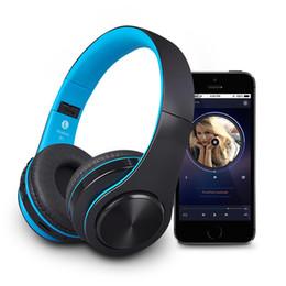 беспроводные аудио гарнитуры Скидка B3 Bluetooth Наушники Беспроводные наушники для iPhone Android Smart Phone 400mAh Встроенная батарея TF Card Play AUX Audio Line Headset