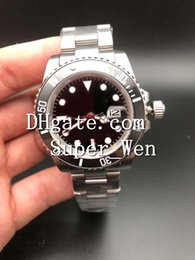 Wholesale Asia Watches - Cheap AAA Factory Quality Sapphire Glass Wristwatches 40MM Black Dial 116610 116610LN Automatic Asia 2813 Movement Men's Watch Watches