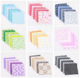 96104eda9f 7 peças / lote design misto 25 cm x 25 cm tecido de algodão patchwork  bundle tecidos pano de costura DIY